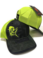 Black Kryptex  with Neon Yellow Mahi Mahi snapback hat