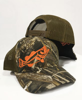 camo with  Orange  bass mens snapback hat