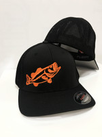 SOILD BLACK  Flex fit onesize with neon orange BASS