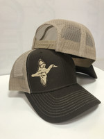 two toned brown duck hunting hat