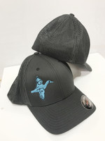 Gray onesize flex fit blue wing teal oneszie hat