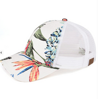 White tropical hat