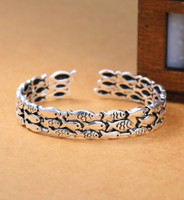 sterling silver adjustable fish wrapped bracelet
