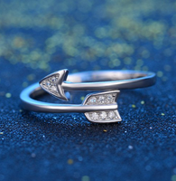 Sterlign silver Arrow ring adjustable