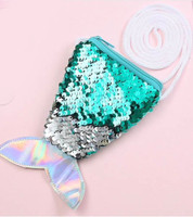 reversible sequin mermaid tail  kids small purse.