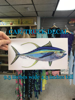 Yellowfin Tuna car/truck decal