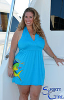 Plus Size Halter blue mahi dress