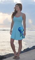 light blue jellyfish dress