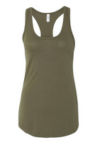 army green basic racerback tank top
