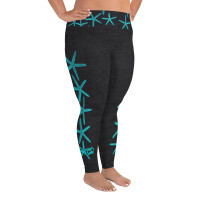 starfish  vintage black PLUS SIZE LEGGINGS
