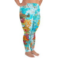 REEF with MAP  PLUS SIZE LEGGINGS
