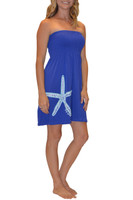 Royal Blue starfish onesize dress
