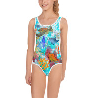 TODDLER-YOUTH Kids onepiece swimwear REEF
