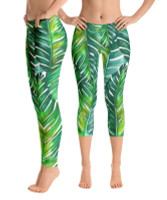 Palm leaf legging