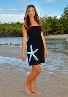 Onsize fits some black starfish  strapless dress
