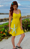 YELLOW Onsize starfish  Strapped Dress