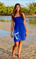 Royal Blue strapless  onesize starfish  dress