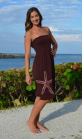 Brown  strapless  onesize starfish  dress
