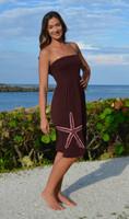 Brown  strapless  onesize starfish  dress