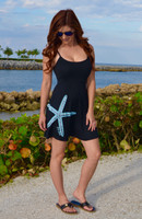 Black Spaghetti Strap starfish dress