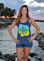 Compass rose Sporty Girl racerback tank top