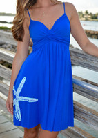 Royal Blue Fancy Spaghetti Strap STARFISH dress