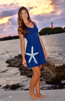 Nautical navy racerback starfish dress