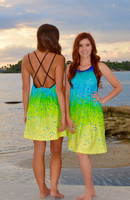 L/XL SIZE LEFT -Mahi Mahi strappy coverup dress