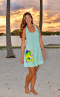 MINT strappy back dolphin dress