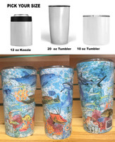 REEF DESIGN  10oz , 12oz or 20oz tumbler
