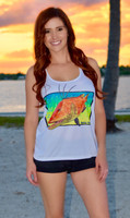 Hogfish with mahiskin racerback Sporty tank top