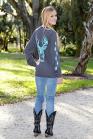 Pre order due in November  Gray/Mint long sleeve  big buck with tracks