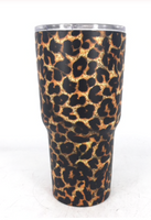 cheetah stainless steel  32 oz tumbler