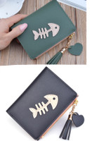 small fish bone wallet