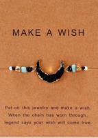 Black gemstone Stone adjustable bracelet
