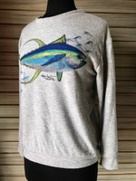 Soft lightweight  gray tuna sweater