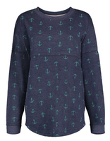 Anchor womens french terry longer length sweatshirt