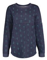 Anchor womens french terry longer length sweatshirt