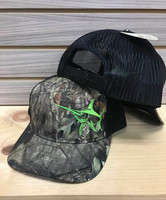 mossy oak camo neon green SWORDFISH MESH BACK HAT
