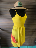 yellow hogfish oneszie dress with straps