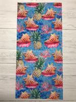 Conch Shell and Pineapple SEAMLESS FACE mask-buff-headband