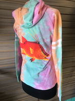rainbow sorbert  drawstring hogfish  hoodie