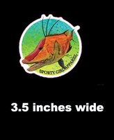 3.5 inch  hogfish  sticker
