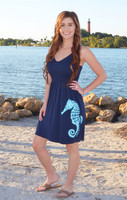Navy Blue  SEAHORSE  adjustable onesize  fits some dress
