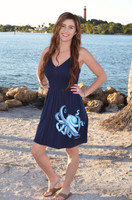 Navy Blue  OCTOPUS  adjustable onesize  fits some dress
