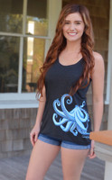 Copy of Neon Green burnout racerback octopus dress