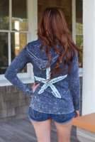 gray burnout super lightweight STARFISH zip hoodie
