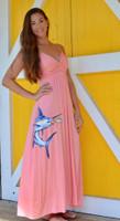 Coral or Purple   MAXI  MARLIN  dress
