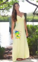 HighLighter YELLOW  MAXI  dolphin  dress