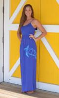 Royal Blue   MAXI  seaturtle   dress